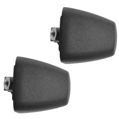 06-10 Hummer H3; 09-10 H3T Front or Rear Door Textured Black Outside Handle End Cap Pair (GM)