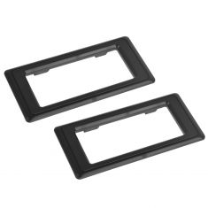 87-96 Dodge Dakota Inside Door Handle Black Trim Bezel Pair (Mopar)
