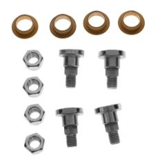 Door Hinge Pin & Bushing Kit (4 Pins, 4 Bushings, & 4 Lock Nuts)