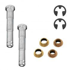 96-07 Taurus, Sable Frnt & Rr Door Hinge Pin & Bushing Repair Kit (4 Pins, 2 Bushings, 2 E-Clips)