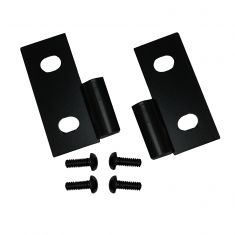Lower Door Hinge Brackets, Black, 76-06 Jeep CJ and Wrangler (YJ)