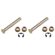 1989-06 FORD Lincoln Mercury Multifit Door Hinge Pin & Bushing SET (2Pins, 4 Bushings, 2 Clips)