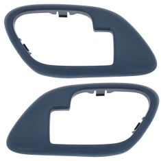 95-02 Chevy GMC C/K PU SUV Inside Door Handle Bezel BLUE PAIR