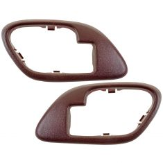 95-02 Chevy GMC C/K PU SUV Inside Door Handle Bezel RED PAIR
