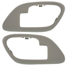 95-02 Chevy GMC C/K PU SUV Inside Door Handle Bezel TAN PAIR