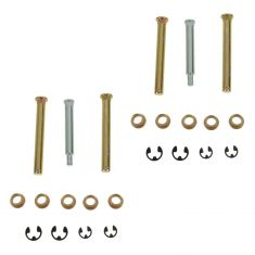 03-09 Dodge Ram Upr & Lwr Front Door Hinge Repair Kit (Pins, Brass Bushing, E-Clips) PAIR