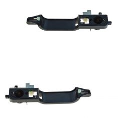 00-01 Ford Focus Front Outer Door Handle Actuator w/Reinforcement Pair (Ford)