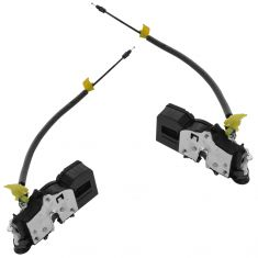 06-11 Chevy Impala Rear Door Lock Actuator w/Integrated Latch & Cable Rear Pair (GM)