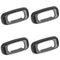 89-95 Toyota PU; 90-95 4Runner Gray Door Lock Knob Insert Mount Set of 4 (Toyota)