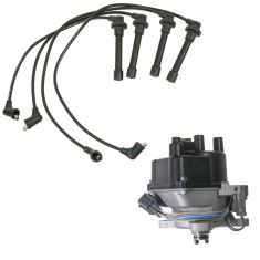 1992-95 Del Sol Civic 1.6 Distributor and Wire Set