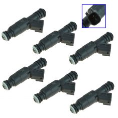 99-04 Jeep L6 4.0L Fuel Injector (SET of 6)