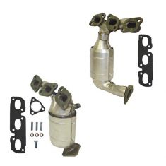 02-06 Mazda MPV Van Exhaust Manifold w/Cat & Gasket Set PAIR