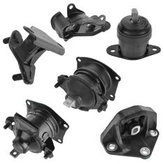 03-07 Honda Accord 3.0L w/AT Engine & Transmission Mount Kit (Set of 6)
