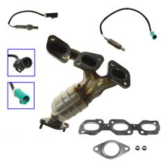 01-07 Escape; 01-04 Tribute; 05-06 Mariner 3.0L Rear Manifold, Cat, O2 Set