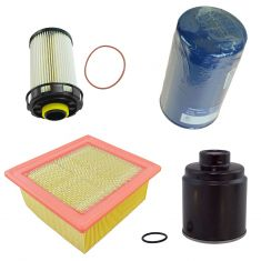 13-17 Ram 6.7L Diesel Water Seperator Air, Oil, Fuel Filter Kit (Set of 4)