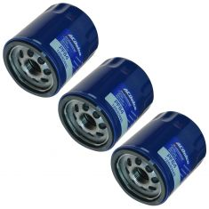 14-15 Regal; 13-15 ATS; 14-15 CTS; 15 Canyon; 12-15 Chevy Engine Oil Filter Set of 3 (AC Delco)