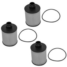 14-15 Chevy Cruze w/2.0L Engine Oil Filter Cartridge w/Housing O-Ring Seal (Set of 3) (AC Delco)
