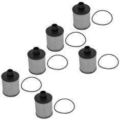 14-15 Chevy Cruze w/2.0L Engine Oil Filter Cartridge w/Housing O-Ring Seal (Set of 6) (AC Delco)