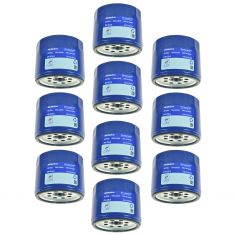 68-93 Buick; 66-07 Chevy; 66-07 GMC; 66-92 Olds; 70-97 Pontiac Eng Oil Filter Set of 10 (AC Delco)