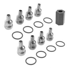 04-10 Ford Van; 04-05 Excsn; 04-07 F250-F550 w/6.0L Dsl Hi Prs Oil Rail Ball Tube Set & Tool