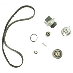 10-13 A3, Golf; 09-13 Jetta Timing Belt & Comp Kit w/Water Pump w/Plastic Impeller (6 Piece) (Gates)