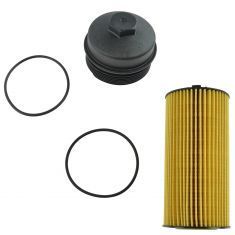 05-10 Ford F250 F350 Super Duty Diesel Oil Filter & Cap Kit Set of 2 (Motorcraft)