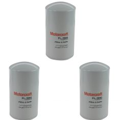 94-03 Ford F250 F350 Super Duty 7.3L Diesel Oil Filter Set of 3 (Motorcraft)