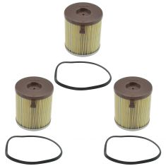 95-97 Ford F250 F350 Super Duty 7.3L Diesel Fuel Filter Set of 3 (Motorcraft)