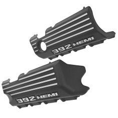 11-12 Dodge Challenger, Charger Plastic Molded ~392 HEMI~ Logoed Engine Valve Cover PAIR (Mopar)