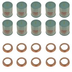 95-15 Infiniti, Nissan Multifit Engine Oil Filter w/ Drain Plug Gasket Kit Set of 10 (Nissan)