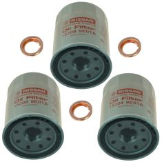 95-15 Infiniti, Nissan Multifit Engine Oil Filter w/ Drain Plug Gasket Kit Set of 3 (Nissan)