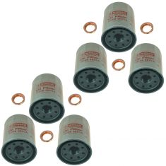 95-15 Infiniti, Nissan Multifit Engine Oil Filter w/ Drain Plug Gasket Kit Set of 6 (Nissan)