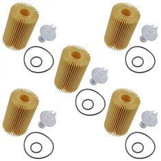 07-15 Toyota Multifit w/4.6L, 5.7L; 08-15 Lexus LX570 Engine Oil Filter Cartridge Set of 5 (Toyota)