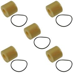 11-15 CT200h; 09-15 Corolla, Matrix, Prius; 08-14 Scion xD Engine Oil Filter Kit (Set of 5) (Toyota)