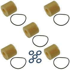 11-15 CT200h; 09-15 Corolla, Matrix, Prius; 08-14 Scion xD Oil Filter Cartridge & Gasket Kit(Toyota)