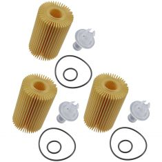 07-15 Toyota Multifit w/4.6L, 5.7L; 08-15 Lexus LX570 Eng Oil Filter Cartridge Kit Set of 3 (Toyota)