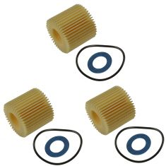 11-15 CT200h 09-15 Corolla,Matrix,Prius;08-14 Scion xD Oil Filter Cartridge & Gasket (Set of 3)(Toy)