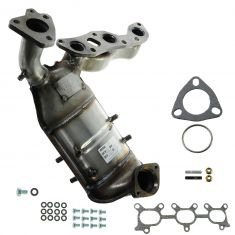 01-02 Villager, Quest 3.3L Front Exhaust Manifold w/Cat & Gasket Install Kit LH