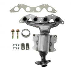 01-05 Honda Civic 1.7L Exhaust Manifold w/Cat, Heat Shields, & Install Kit (Approved For Sale in CA)