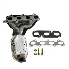 03-05 Kia Rio Exhaust Manifold w/Integral Catalytic Convertor, Heat Shield & Hardware Gasket Kit