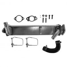 08-10 F250SD-F550SD w/6.4L Turbo Diesel (Horizontally Mtd) Stainless Steel EGR Cooler w/Install Kit