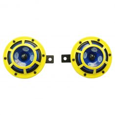 Sharptone Universal 12V High Tone/Low Tone Twin Horn Kit (Yellow) (Hella)