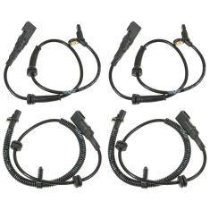2004-07 Ford Focus w/Rear Drum Brakes ABS/ Wheel Speed Sensor Set of 4