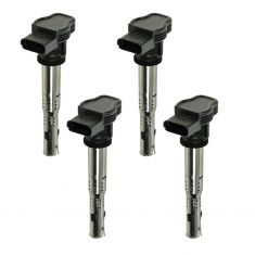 05-12 Audi, VW Multifit w/2.0L, 2.5L, 4.2L Black Connector Ignition Coil (set of 4)