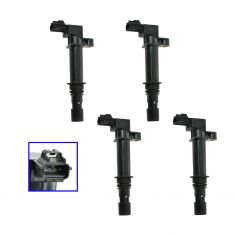 99-08 Dodge Chysler Jeep Mitsubishi 6 & 8 Cyl Ignition Coil Set of 4