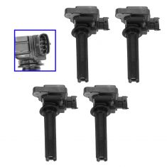 03 Saab 9-3 Sedan; 04-05 9-3; 06-11 9-3 w/2.0L Ignition Coil SET of 4