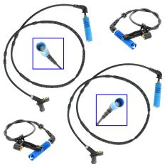 02-04 BMW 320i; 01-06 325Ci, 330Ci; 02-05 325i; 01-05 330i; 03-06 M3 Wheel ABS Sensor SET of 4