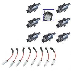 99-07 Buick, Cadillac, Chevy, Hummer, Isuzu, (w/Ign Coil (ID 19005218)) Spark Plug Coil & Wire Set