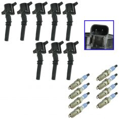 98-08 Ford F-Series Pickup & E-Series Van; 98-99 Navigator w/V8 Spark Plug & Coil Kit (Set of 16)
