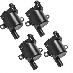 Round Ignition Coil Set of 4 Kit for Cadillac GMC Buick Chevy Pickup Truck